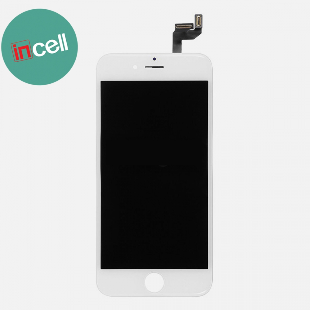 Incell White Display LCD Touch Screen Digitizer + Steel Plate for Iphone 6S