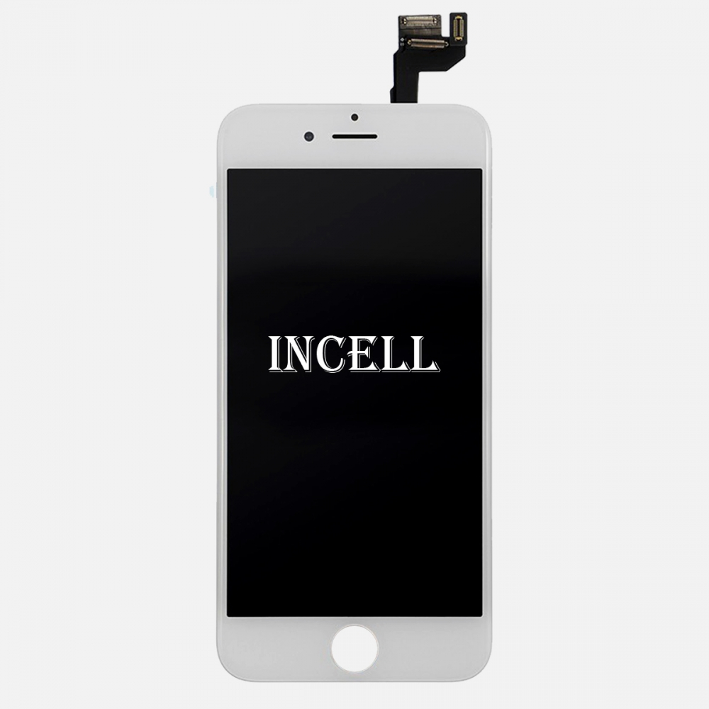 Incell White Display LCD Touch Screen Digitizer + Steel Plate for Iphone 6S Plus