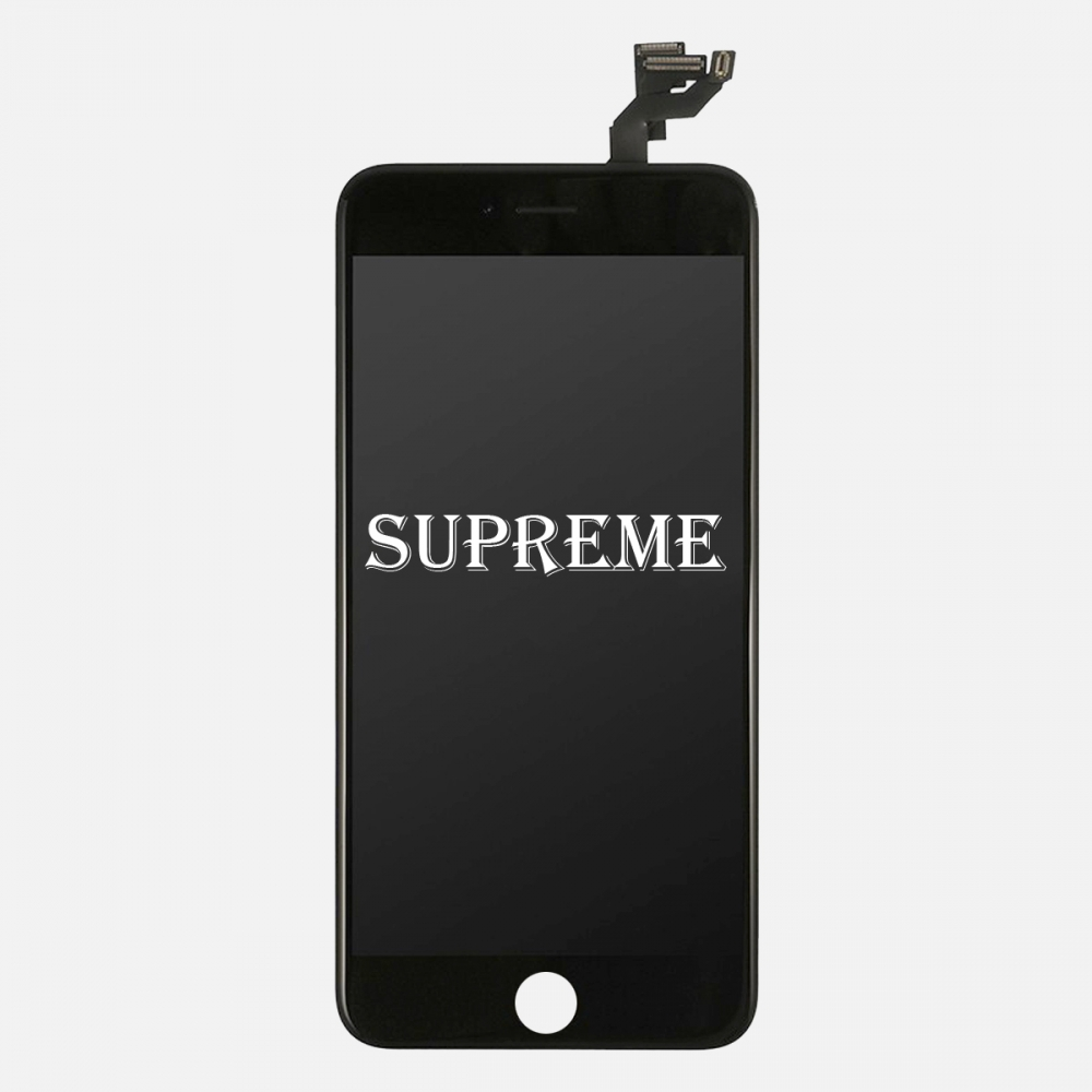 Supreme Black LCD Display Touch Digitizer Screen + Steel Plate for iphone 6S Plus
