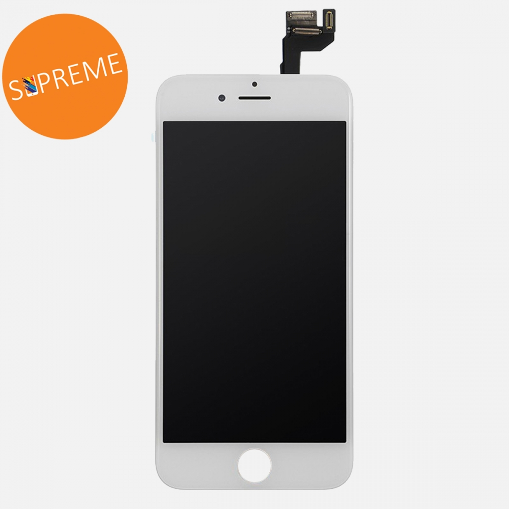 Supreme White LCD Display Touch Digitizer Screen + Steel Plate for iphone 6S Plus
