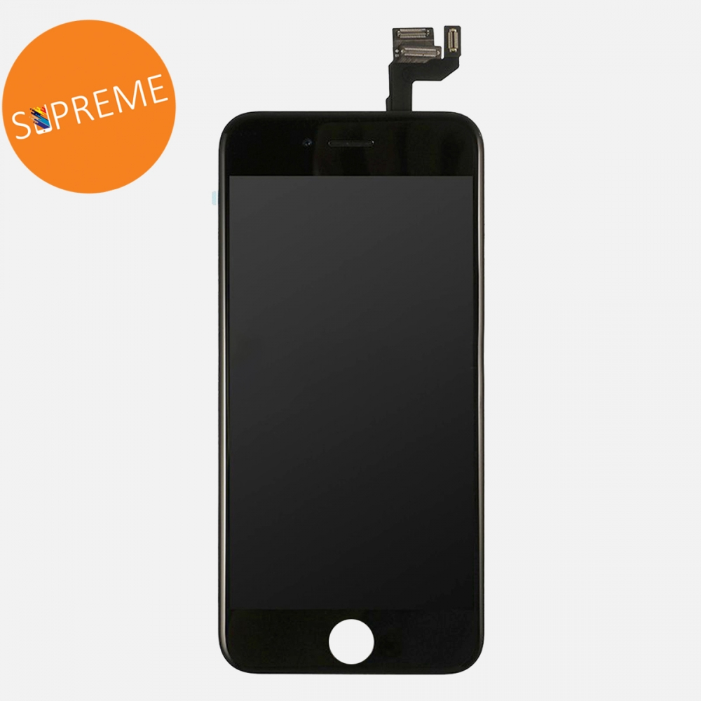 Supreme Black LCD Display Touch Digitizer Screen + Steel Plate for iphone 6S