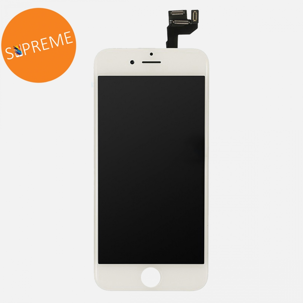 Supreme White LCD Display Touch Digitizer Screen + Steel Plate for iphone 6S