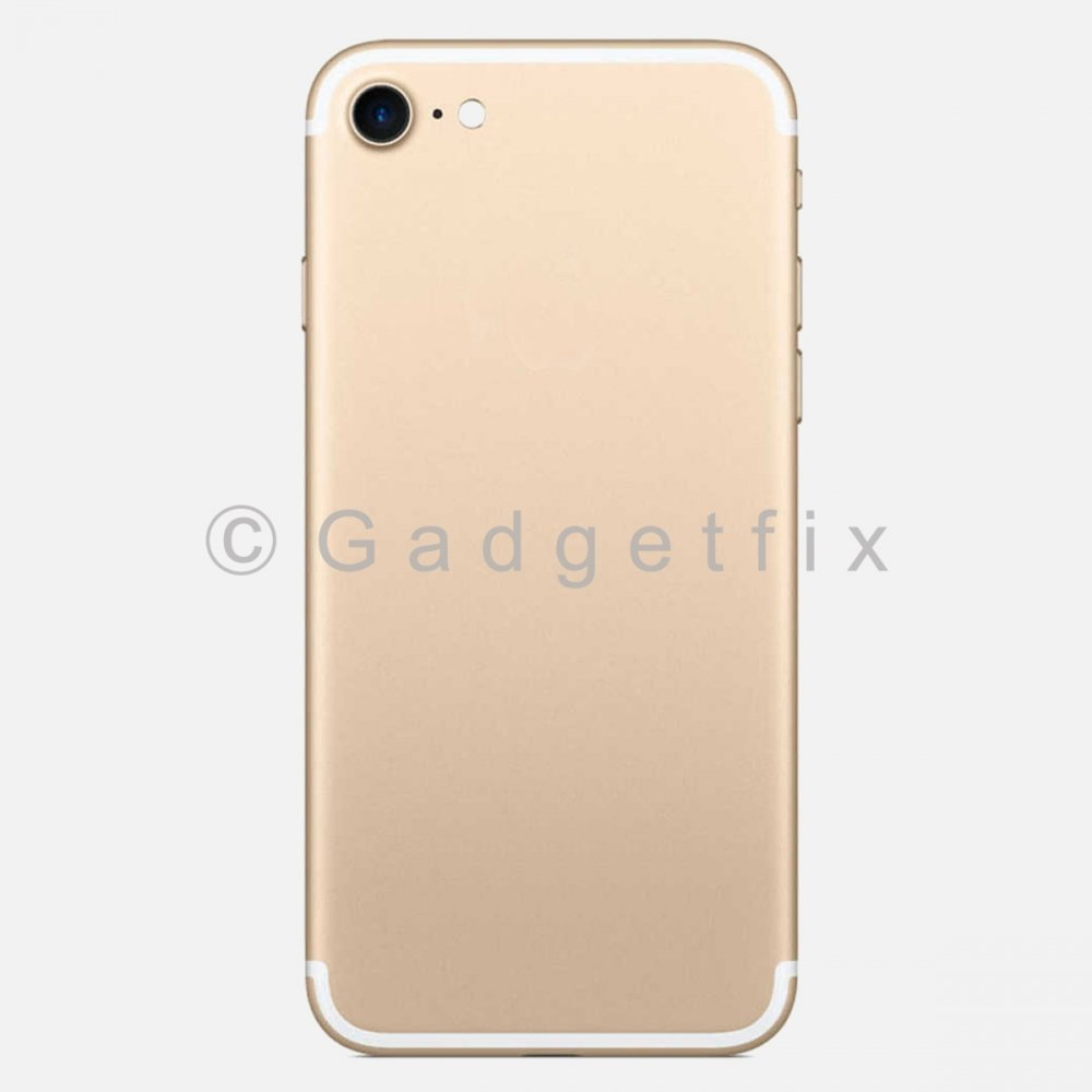Gold Battery Back Door Cover + Camera Lens + Buttons + Sim Tray For Iphone 7