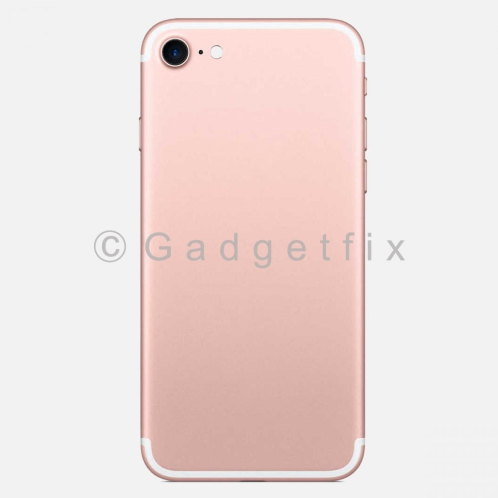 Rose Gold Battery Back Door Cover + Camera Lens + Buttons + Sim Tray For Iphone 7