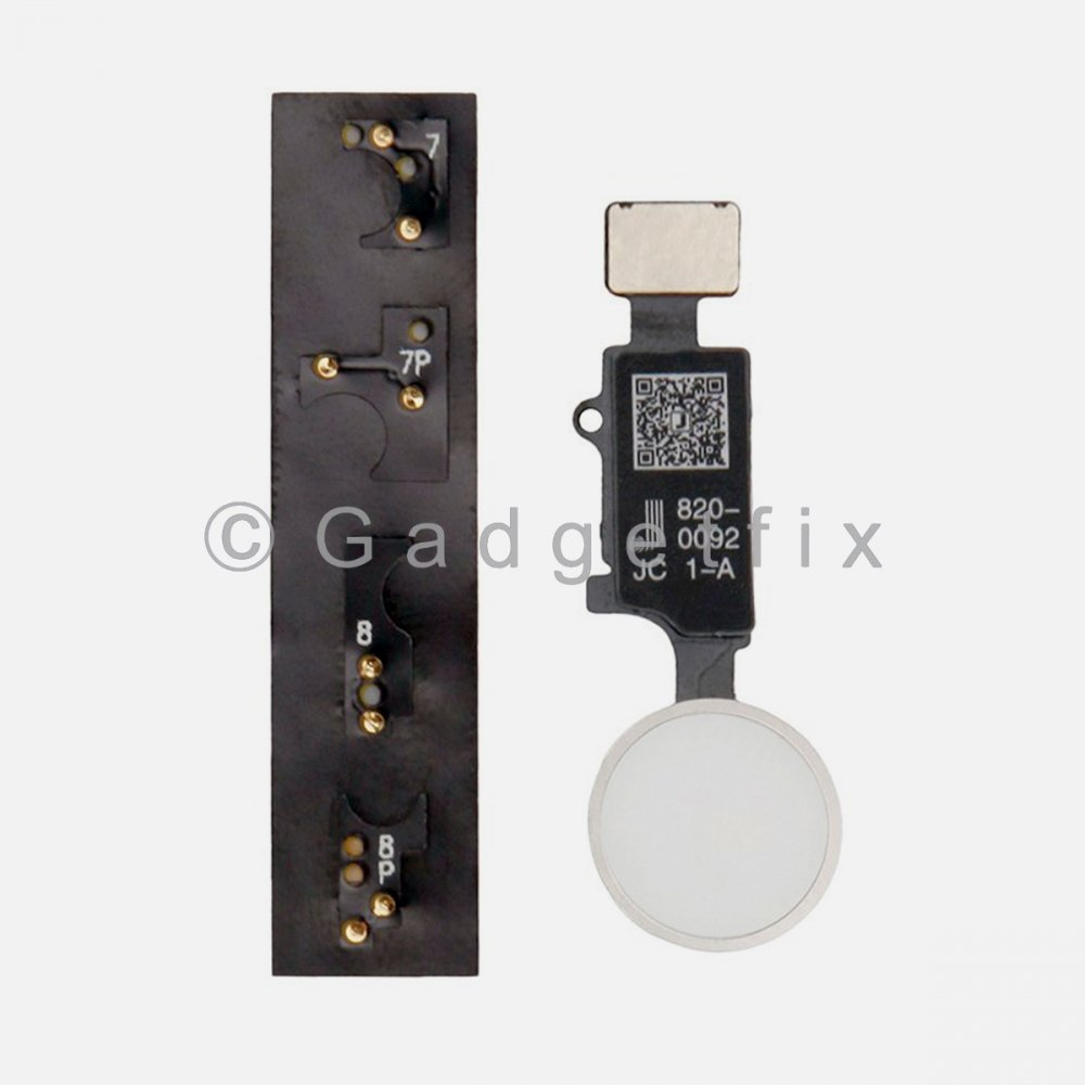 JC Universal Home Button Flex Cable + Return Function For Iphone 7 | 8 | 7 Plus | 8 Plus Silver