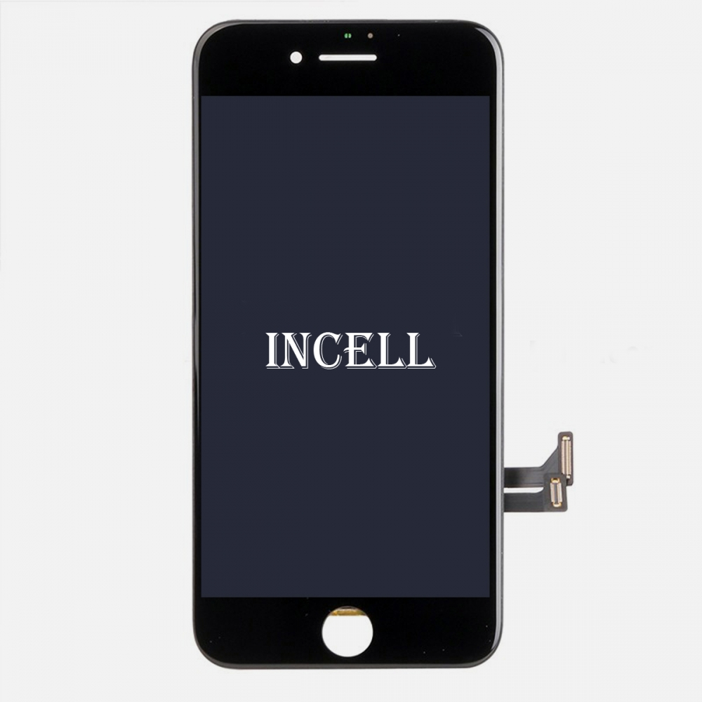Incell Black Display LCD Touch Screen Digitizer + Steel Plate for Iphone 7