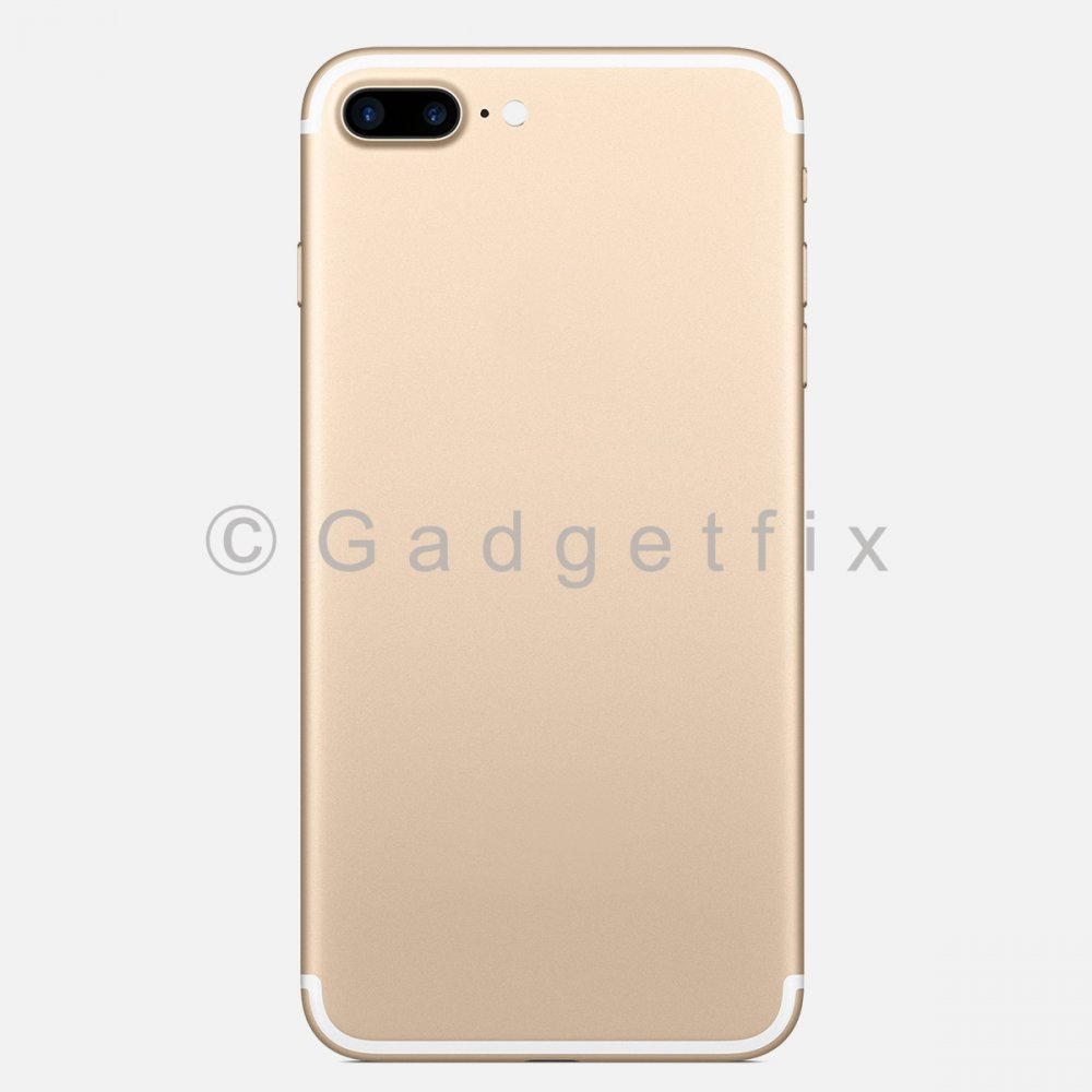 Gold Battery Back Door Cover + Camera Lens + Buttons + Sim Tray For Iphone 7 Plus