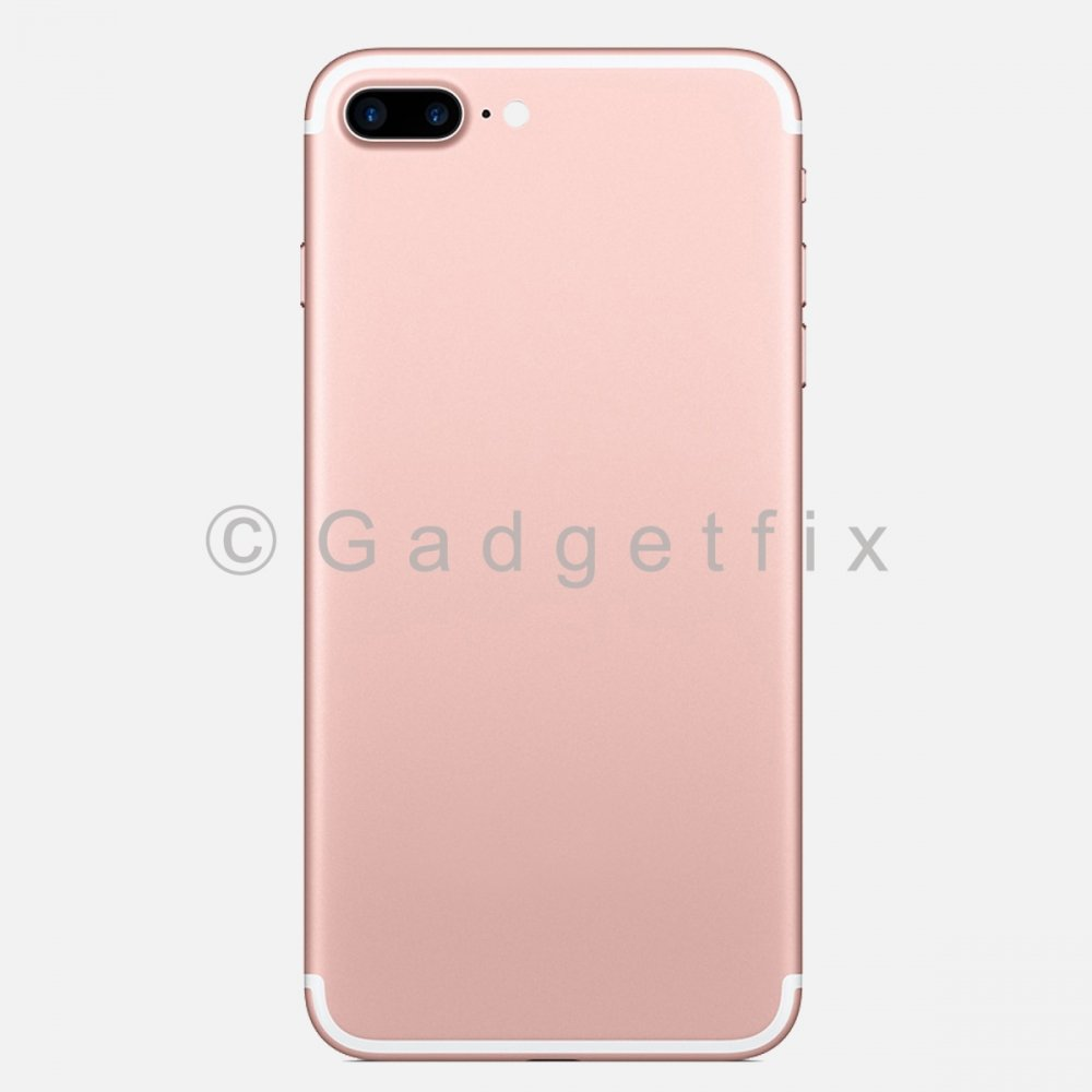 Rose Gold Battery Back Door Cover + Camera Lens + Buttons + Sim Tray For Iphone 7 Plus