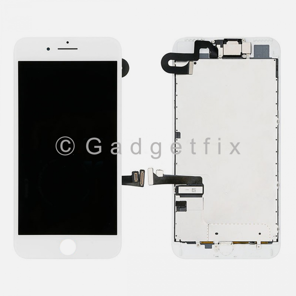 White LCD Screen Display Touch Screen Digitizer For iPhone 7 Plus + All Parts
