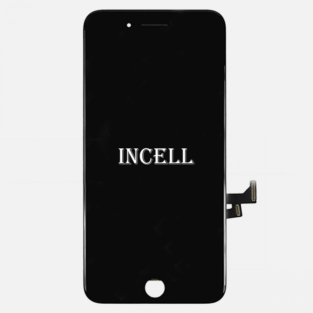 Incell Black Display LCD Touch Screen Digitizer + Steel Plate for Iphone 7 Plus