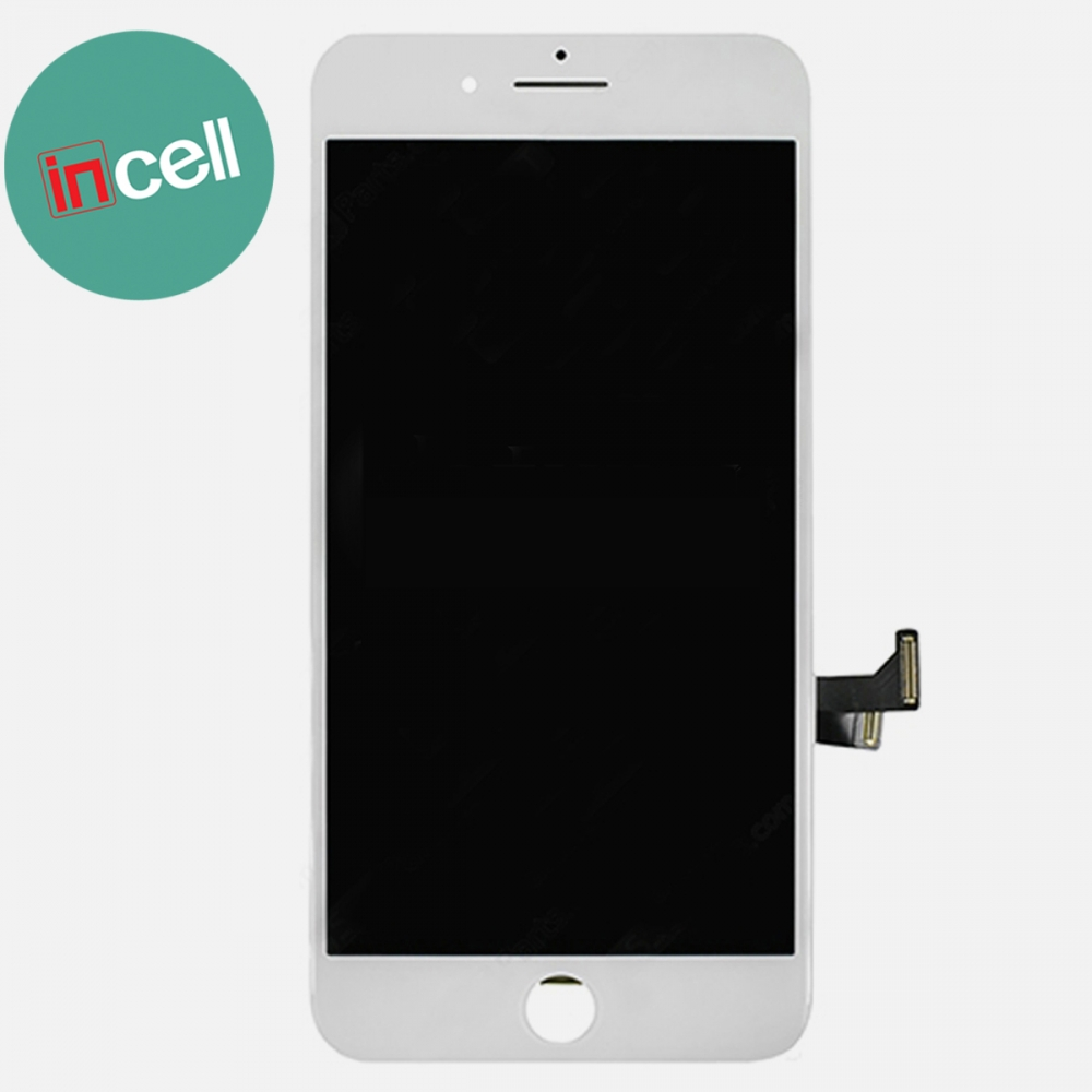 Incell White Display LCD Touch Screen Digitizer + Steel Plate for Iphone 7 Plus