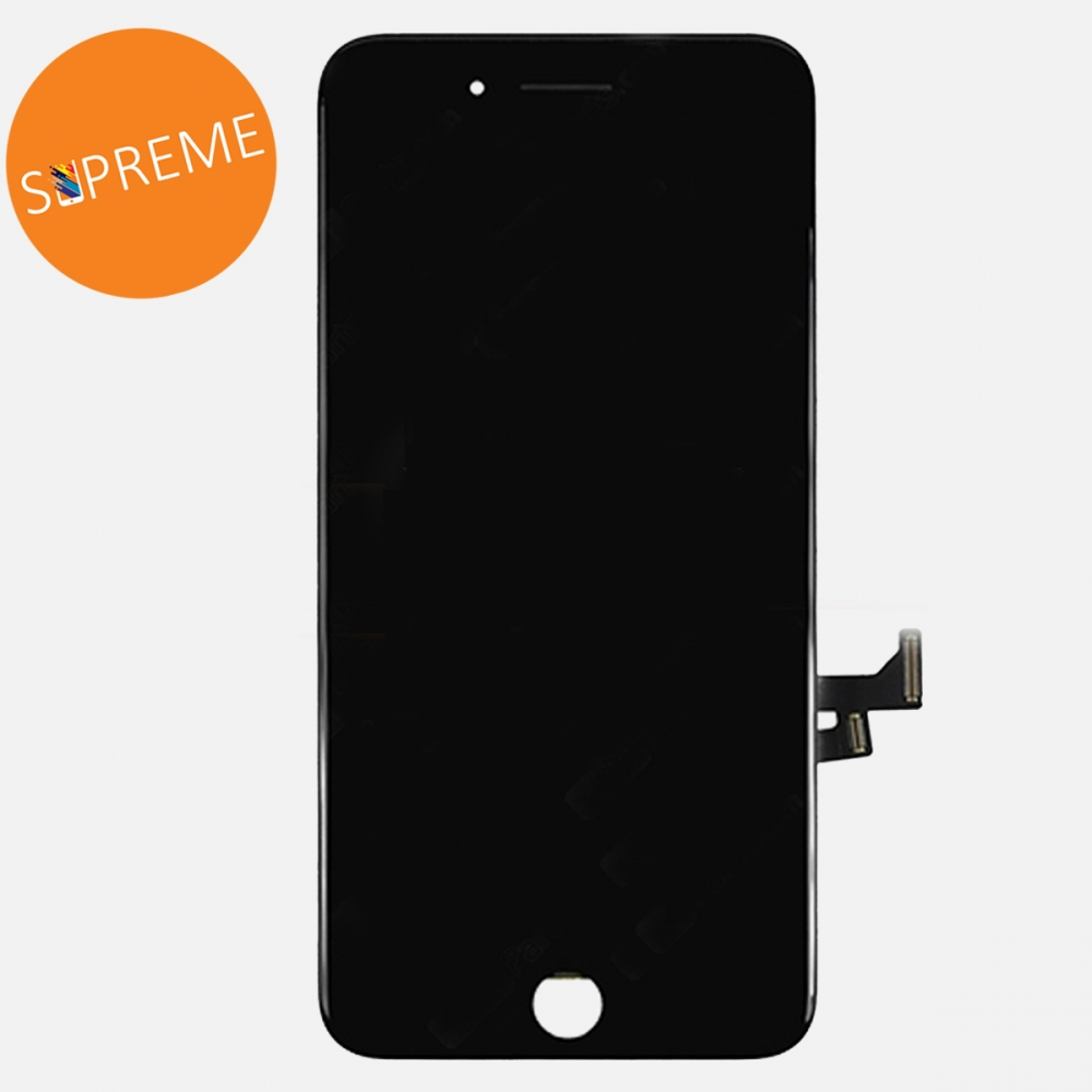 Supreme Black LCD Display Touch Digitizer Screen for + Steel Plate iphone 7 Plus