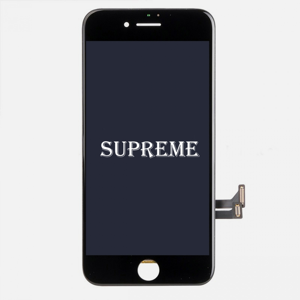 Supreme Black LCD Display Touch Digitizer Screen + Steel Plate for iphone 7