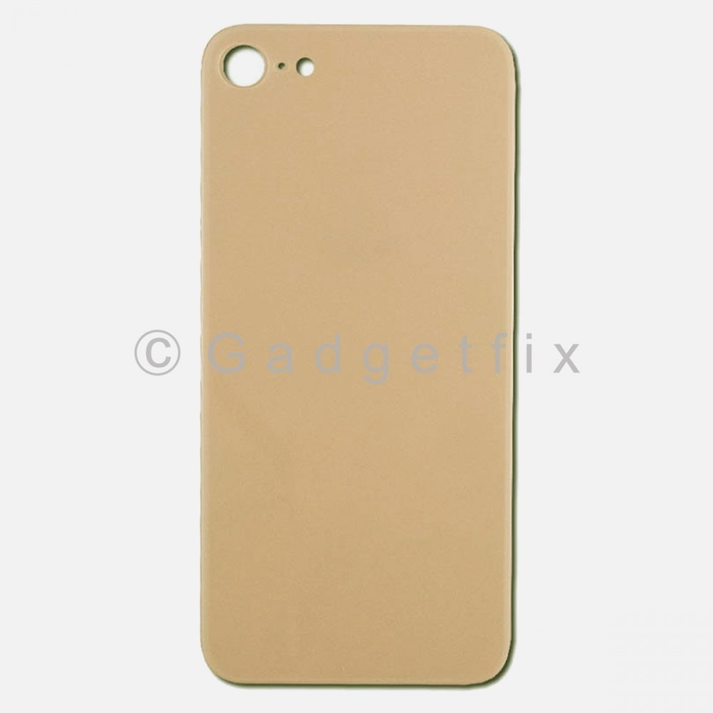 Gold Rear Back Cover Battery Door Glass For Iphone 8
