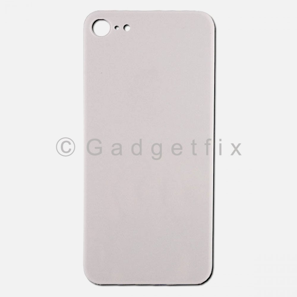 Silver Rear Back Cover Battery Door Glass For Iphone 8
