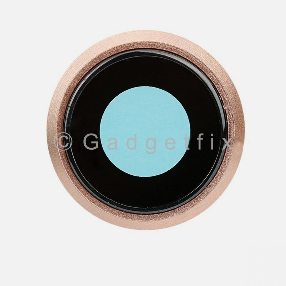 Gold Camera Lens with Bezel Replacement Parts For Iphone 8