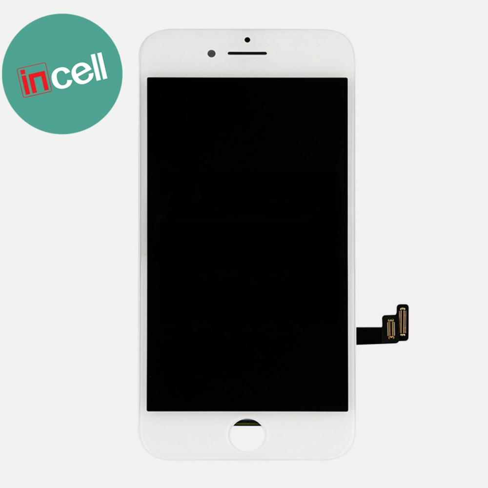 Incell White Display LCD Touch Screen Digitizer + Steel Plate for Iphone 8