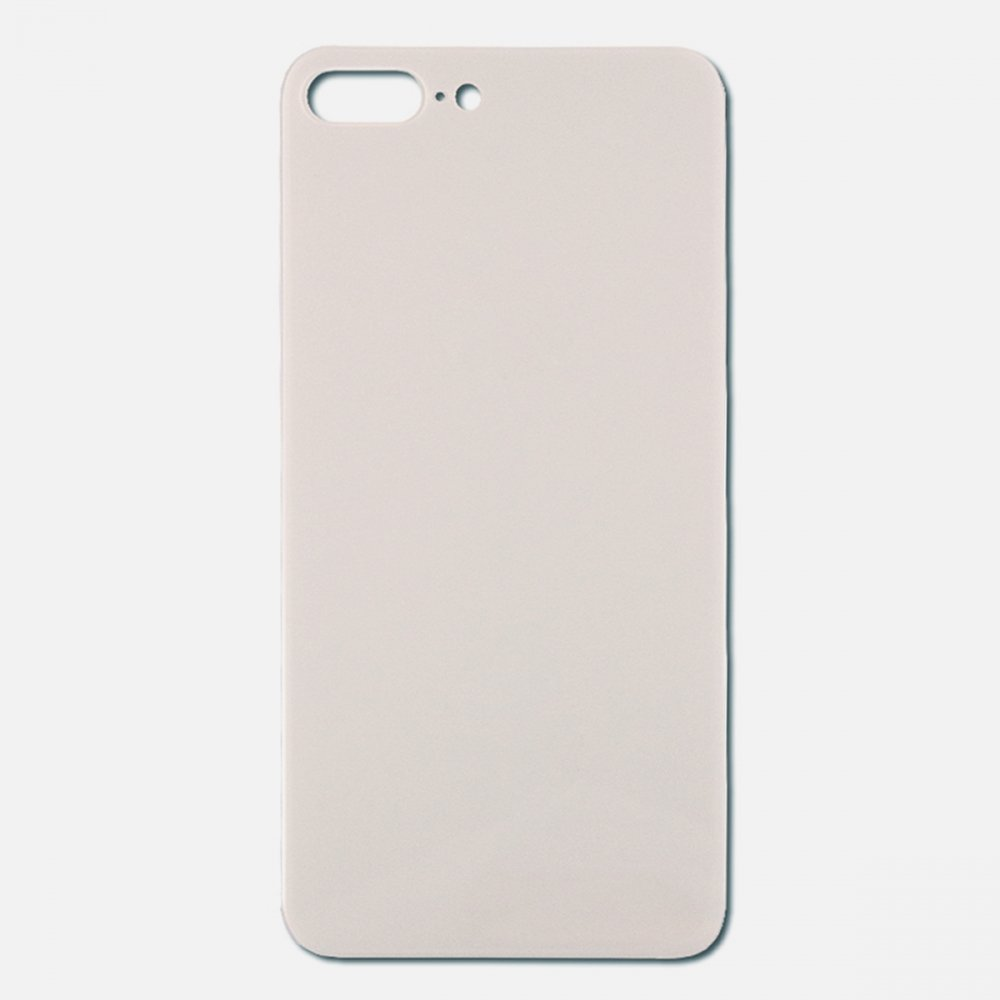 Silver Rear Back Cover Battery Door Glass For Iphone 8 Plus