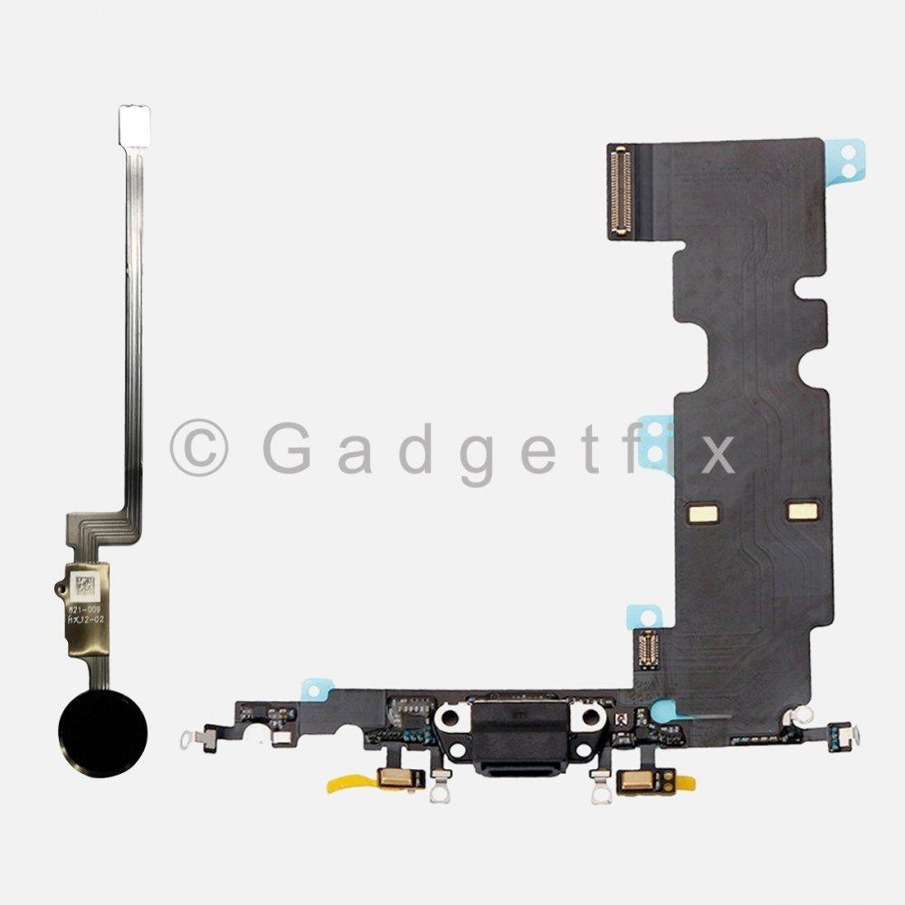 Iphone 8 Plus Home Button FingerPrint Scanner Charging Flex (Fix Return Function)