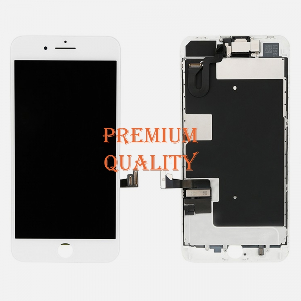 White LCD Screen Touch Screen Digitizer + Camera Replacement For iPhone 8 Plus
