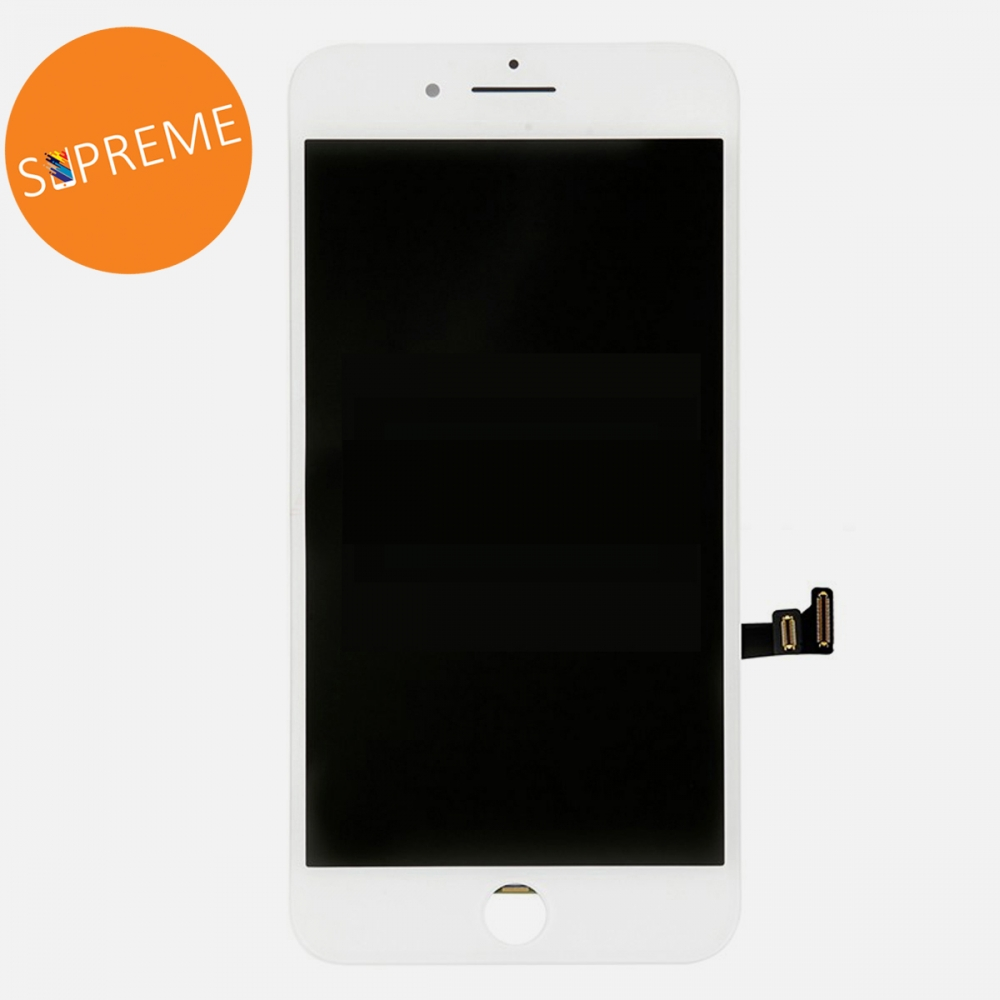 Supreme White LCD Display Touch Digitizer Screen + Steel Plate for iphone 8 Plus