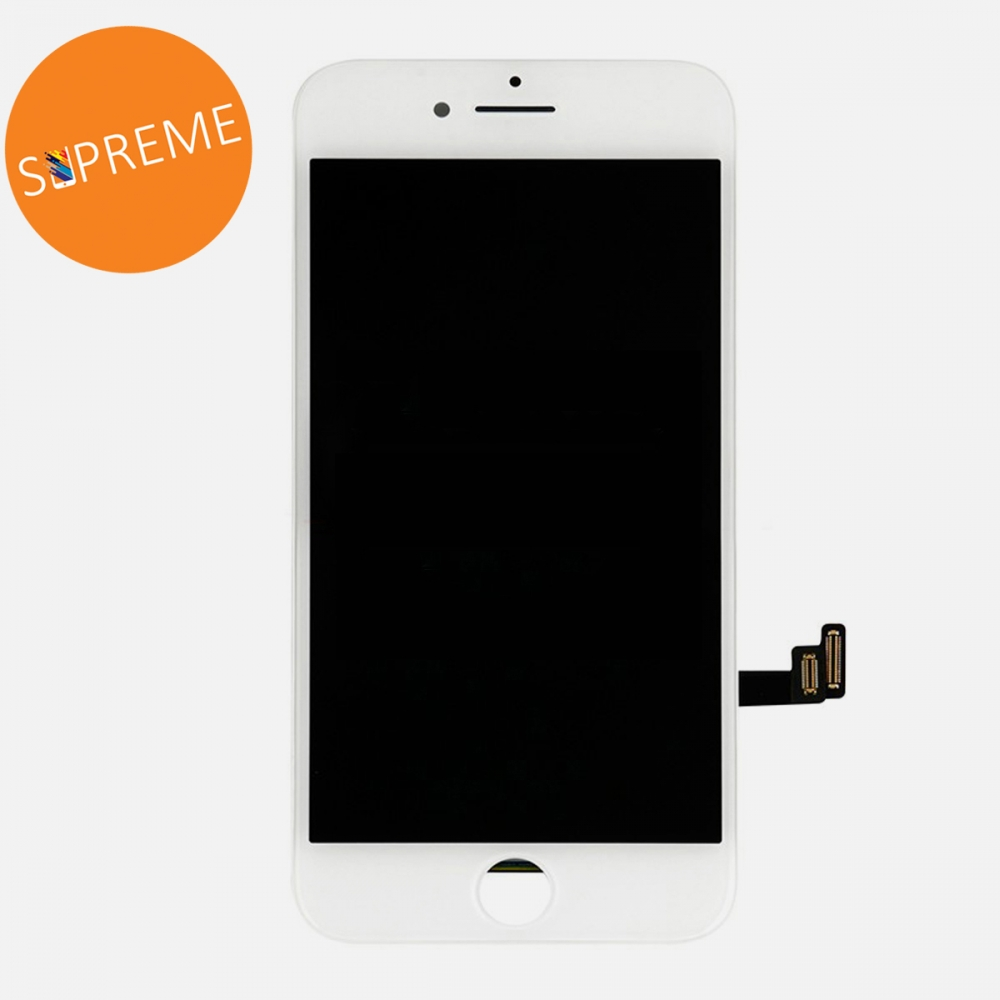 Supreme White LCD Display Touch Digitizer Screen + Steel Plate for iphone 8 | SE 2020