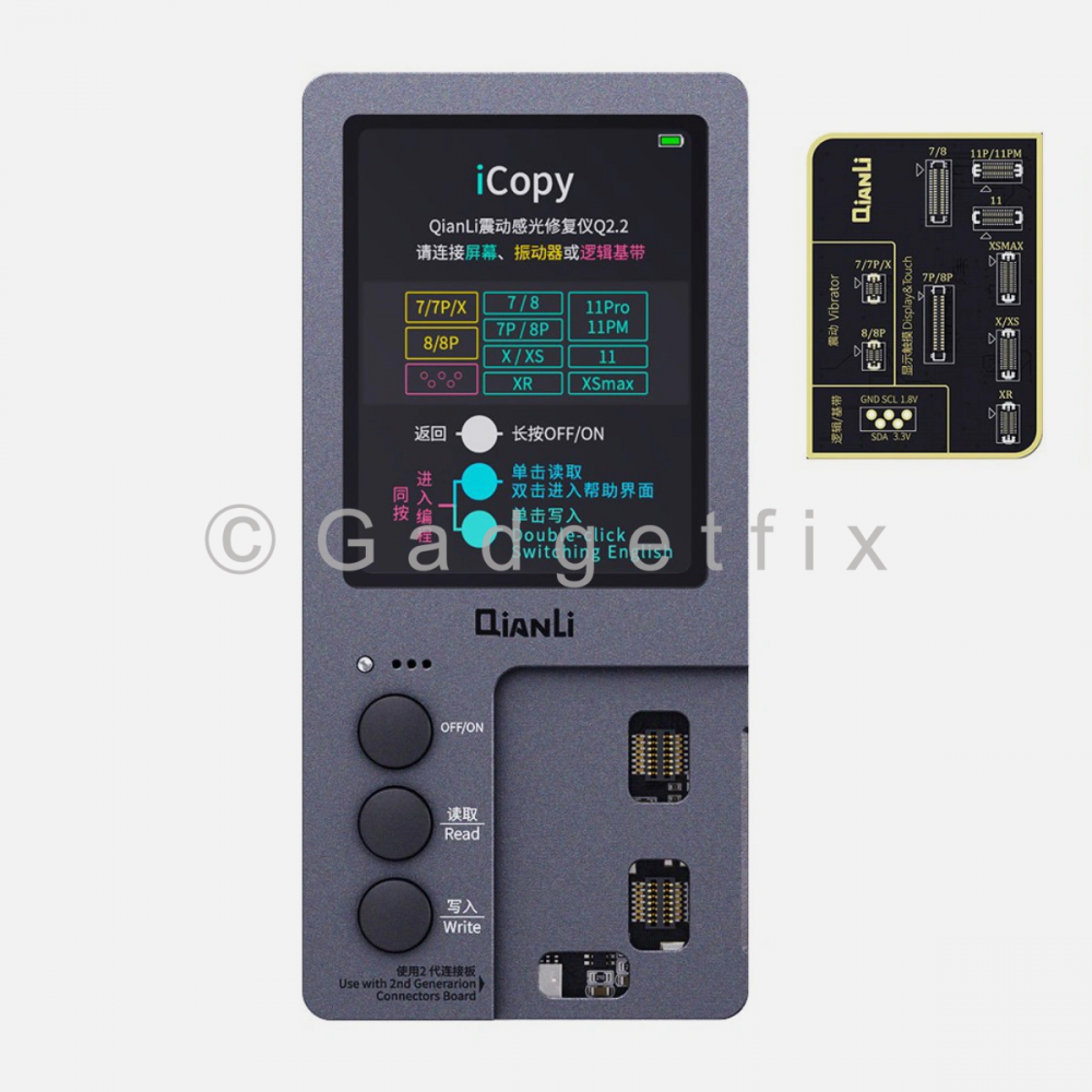 Qianli iCopy Plus 2.1 Touch LCD True Tone Light Sensor Battery Vibrate Programer for 7-11 Pro Max