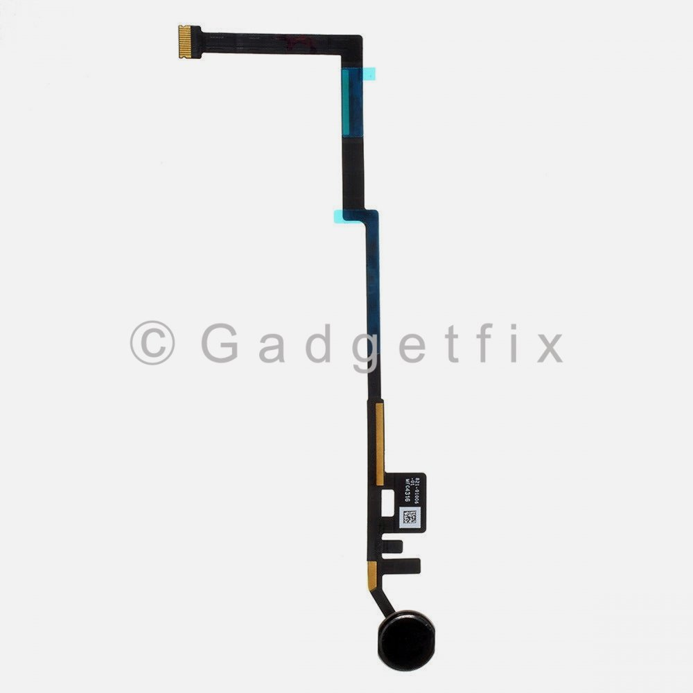 Black Home Button Key Fingerprint Scanner Flex Cable Connector For iPad 6 6th Gen 2018