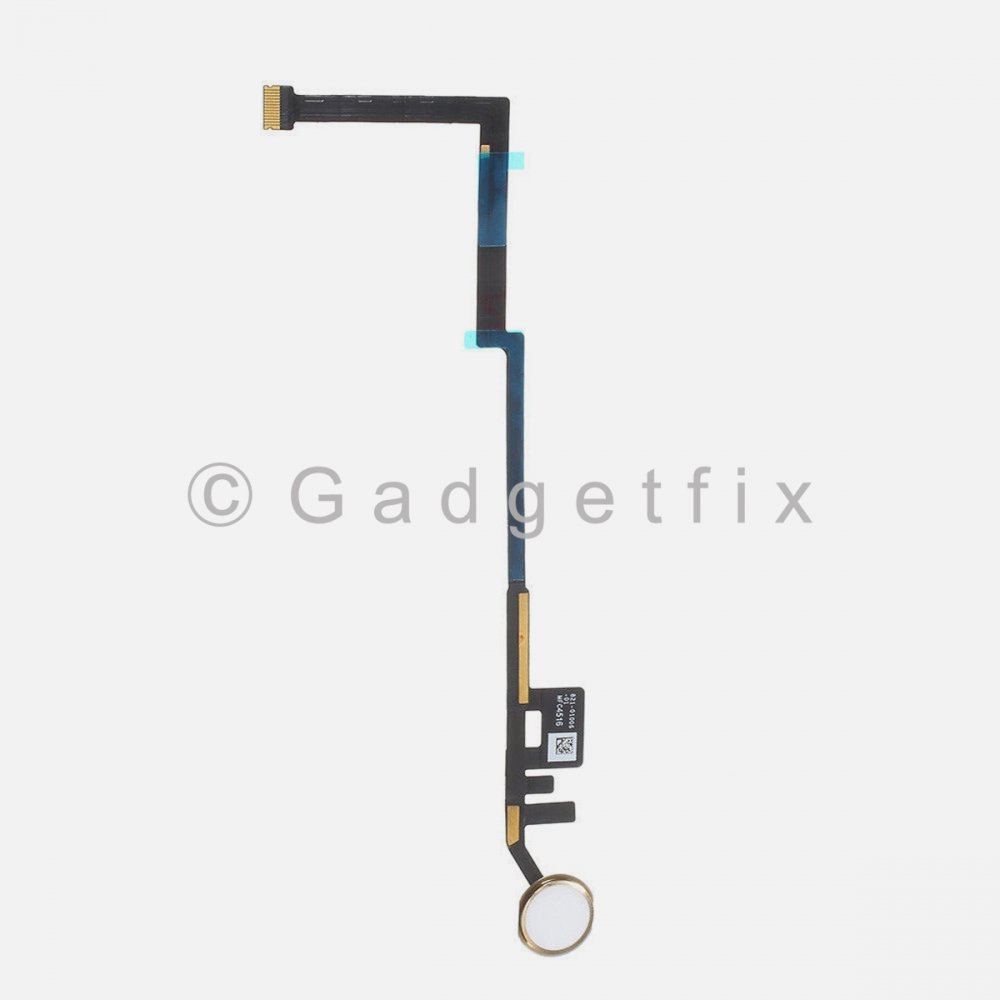 Gold Home Button Key Fingerprint Scanner Flex Cable Connector For iPad 6 6th Gen 2018
