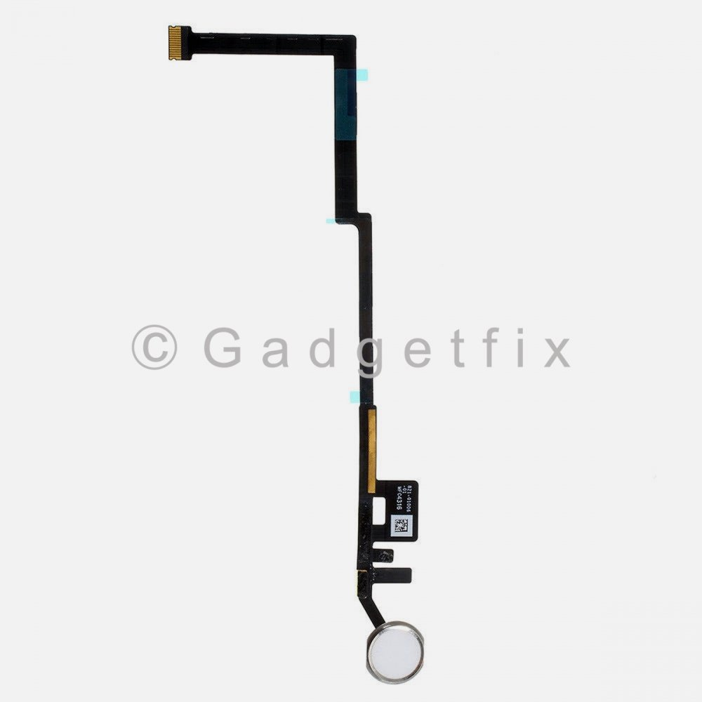 Silver Home Button Key Fingerprint Scanner Flex Cable Connector For iPad 6 6th Gen 2018