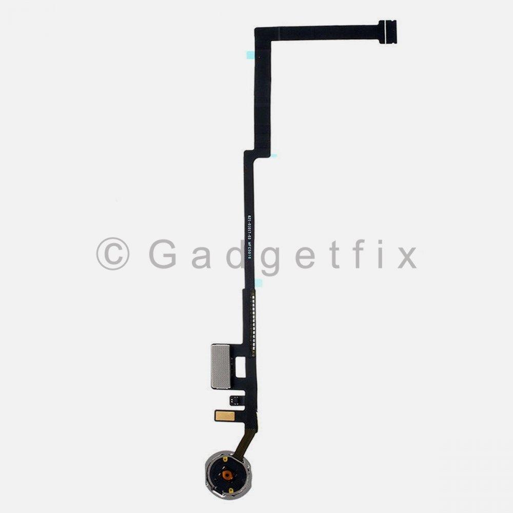 Silver Home Menu Button Flex Cable for iPad 10.2 7th Gen A2200 A2198 A2232