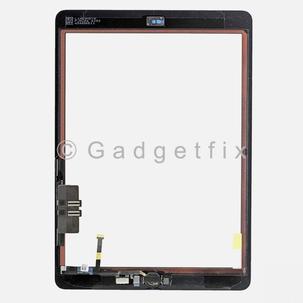 Black for iPad 6 6th Gen 2018 Touch Screen Digitizer Replacement w// Home Button