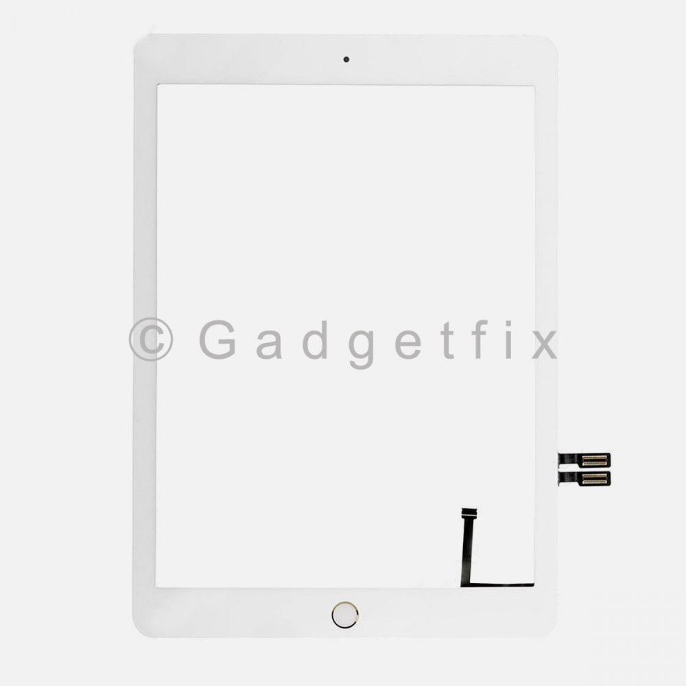 White Touch Screen Digitizer + Gold Button for 2018 iPad 6 6th Gen Generation A1893 A1954