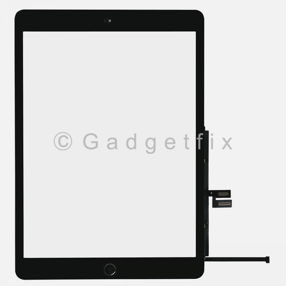Black Touch Screen Digitizer + Button Finger Print + Adhesive For Apple Ipad 10.2 (7 7th Generation)