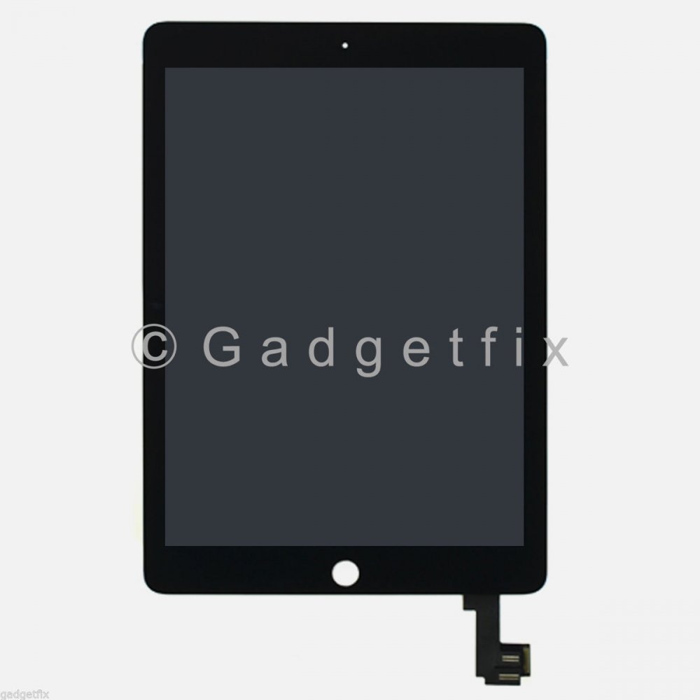 Black Touch Screen Digitizer LCD Display + Wake Sleep Sensor for iPad Air 2 A1566 A1567