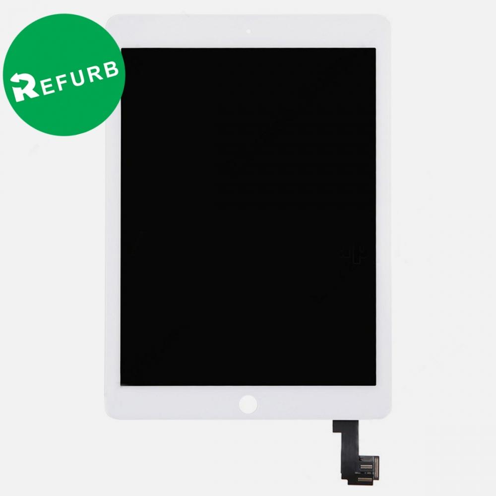 Refurbished White Touch Screen Digitizer LCD Display + Wake Sleep Sensor for iPad Air 2 A1566 A1567