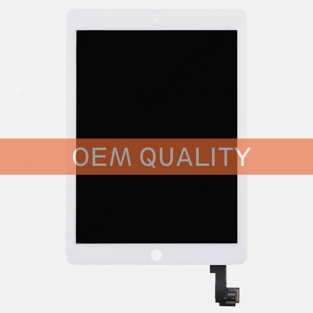 (Top Quality) White Touch Screen Digitizer LCD Display + Wake Sleep Sensor for iPad Air 2 A1566 A1567