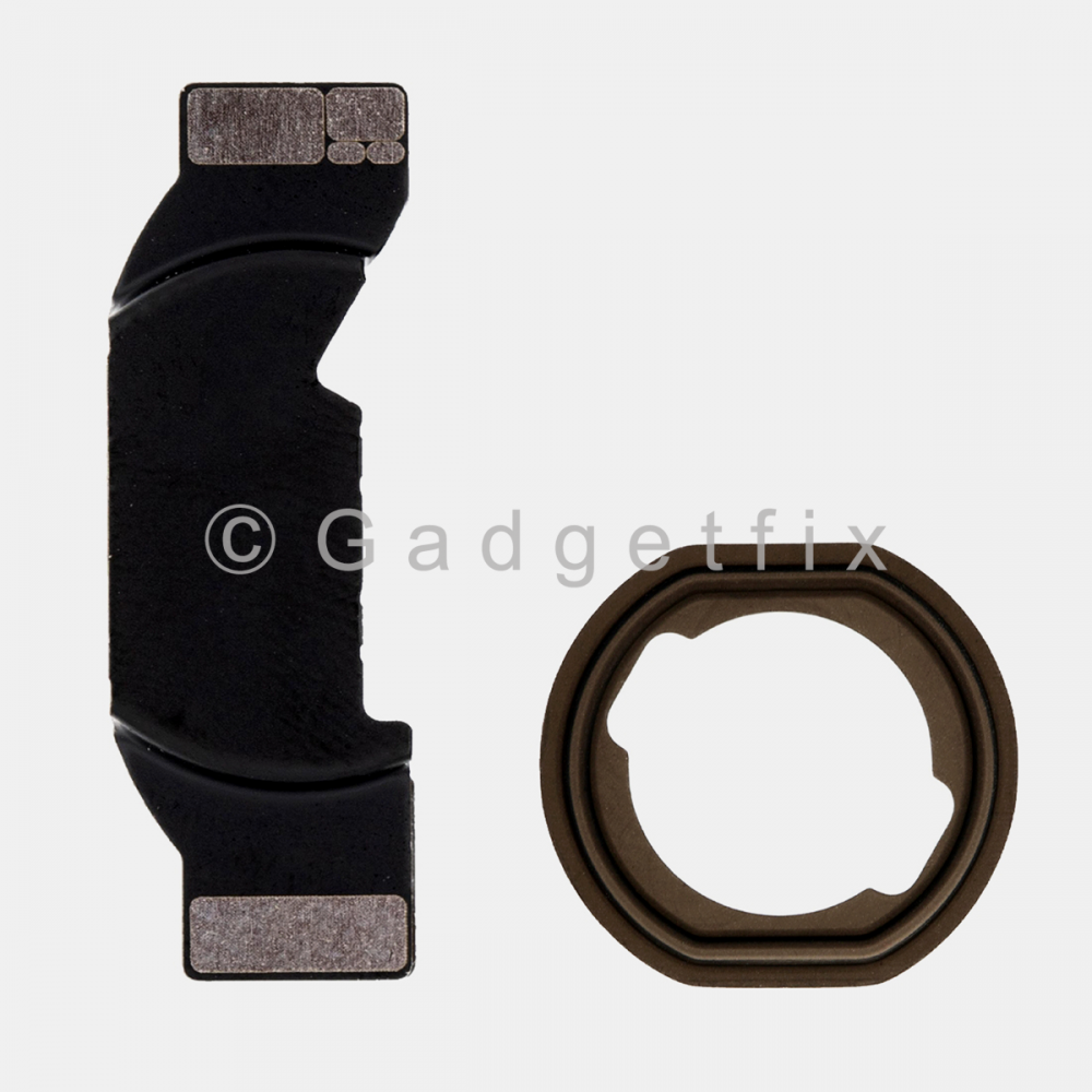 Home Button Mounting Holding Bracket + Rubber Gasket for Ipad Air 2 | Pro 9.7 | Pro 12.9 (1st Gen)