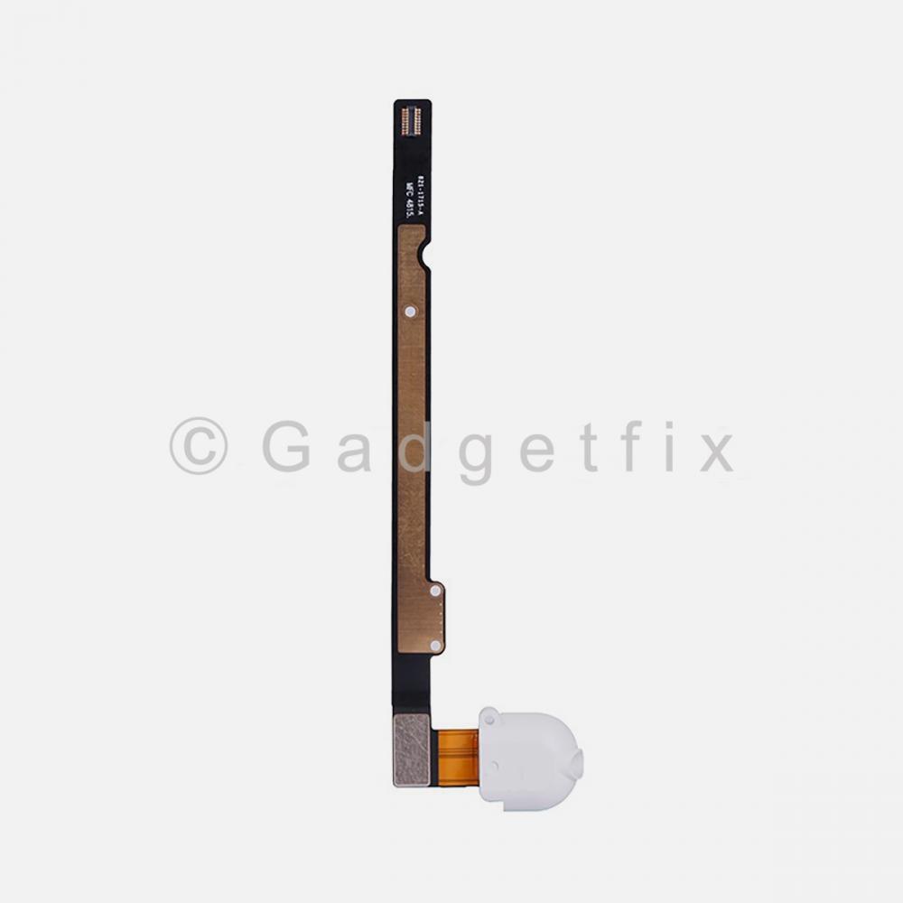 White Headphone Audio Jack Flex Cable For Ipad Air | Ipad 5 | Ipad 6 (Wifi | 3G)