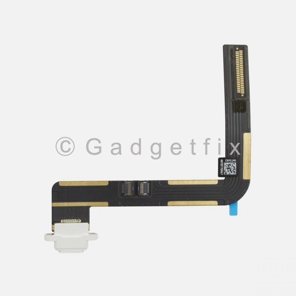 White USB Charger Lightning Charging Port Dock Flex Cable for Ipad 6 2018