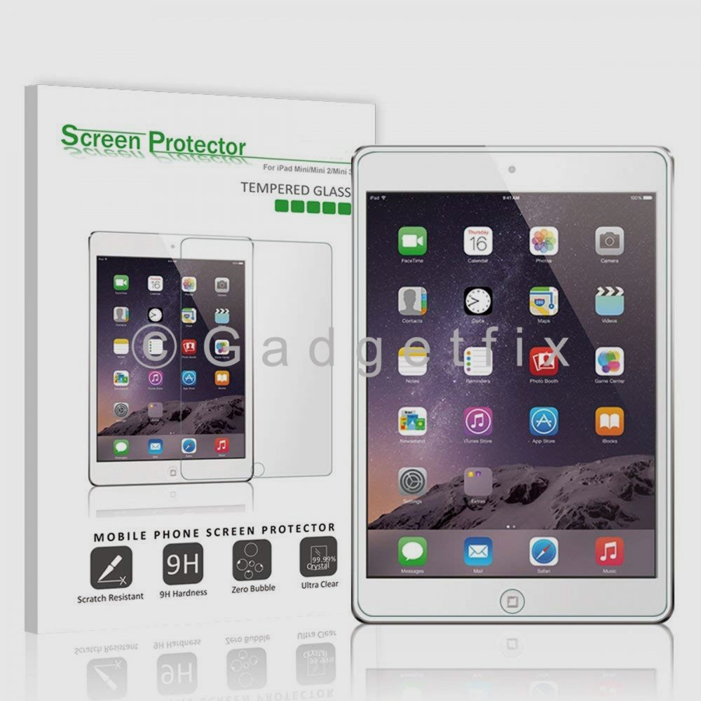 Ipad Mini 1 2 3 9H 0.33mm Premium Tempered Glass LCD Screen Protector Guard