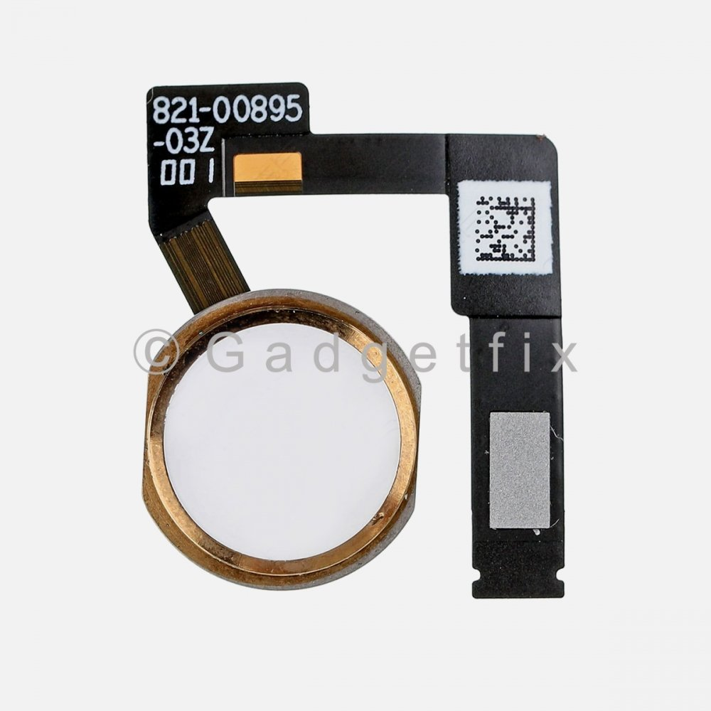 Gold Home Menu Button Flex Cable for iPad Pro 12.9 2nd Gen A1670 A1671