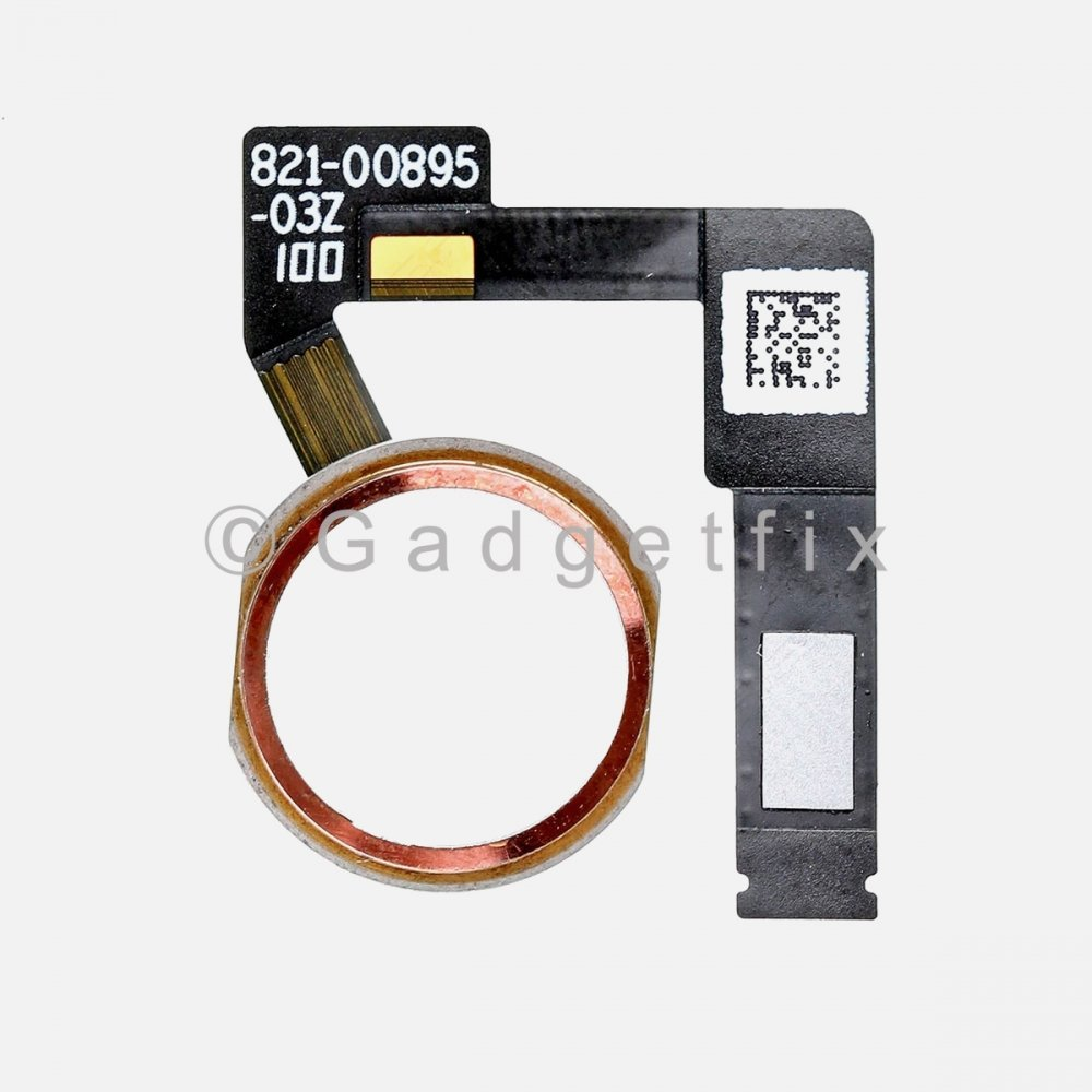 Rose Gold Home Menu Button Flex Cable for iPad Pro 12.9 2nd Gen A1670 A1671