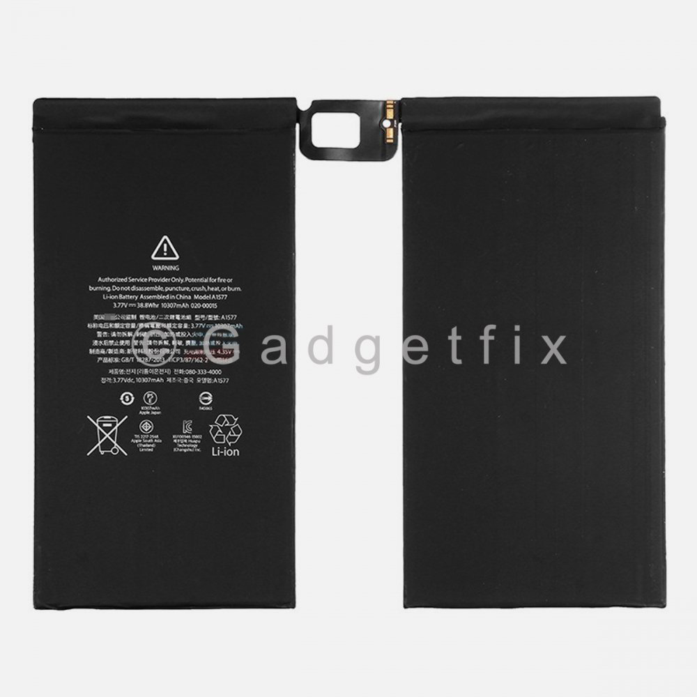 Ipad Pro 12.9 10307mAh Battery Replacement Part A1584 A1652