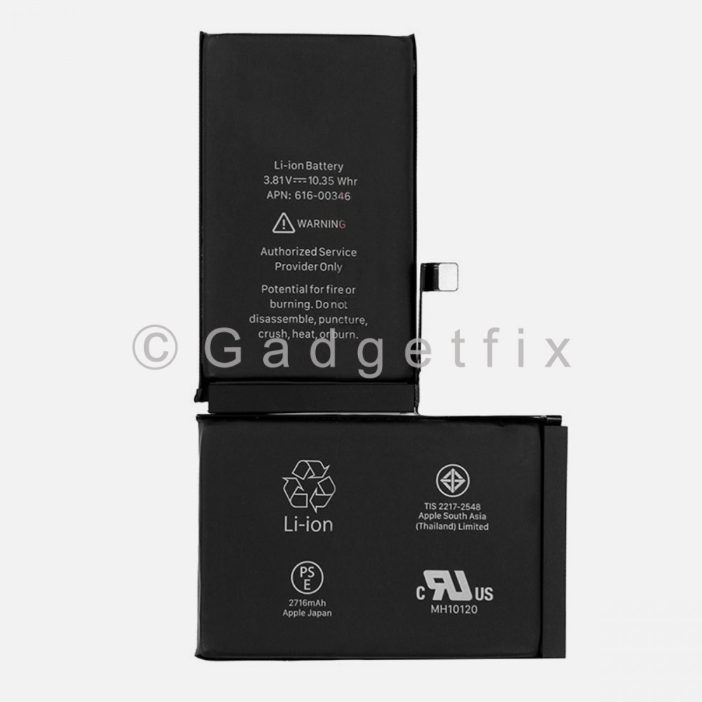 New 2716 mAh Battery Replacement For Iphone X 616-00351