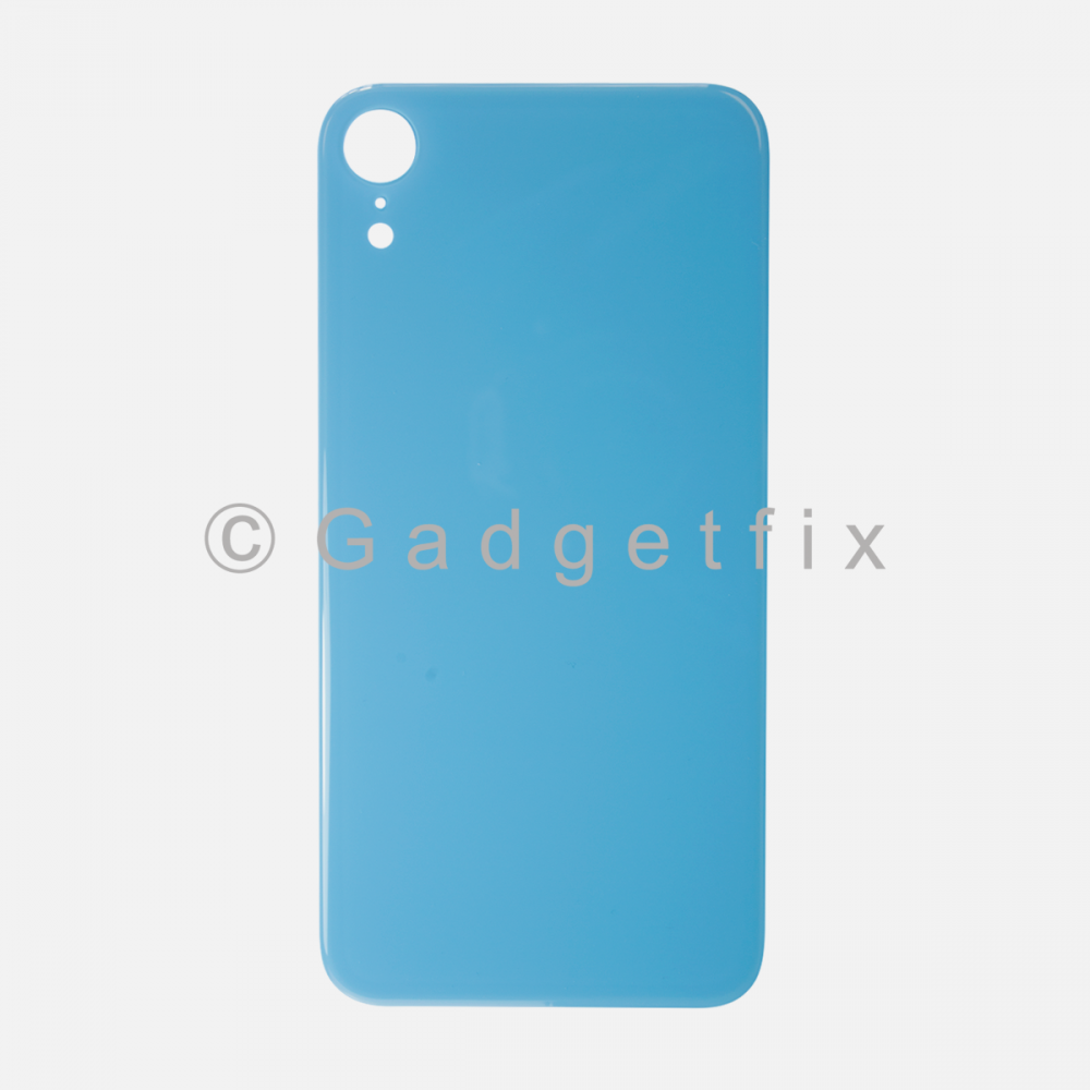 Blue Rear Back Cover Battery Door Glass For Iphone XR (Large Camera Hole)