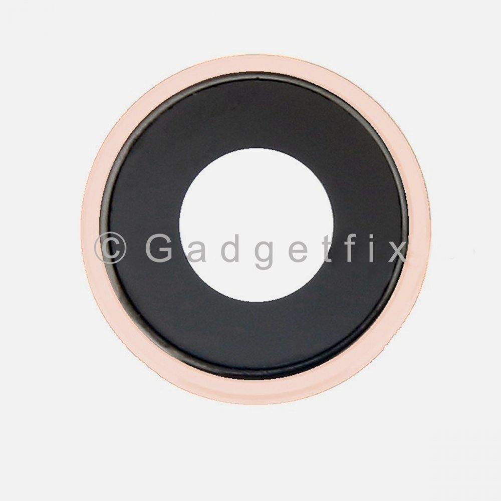 Coral iPhone XR Rear Back Camera Lens with Bezel Frame