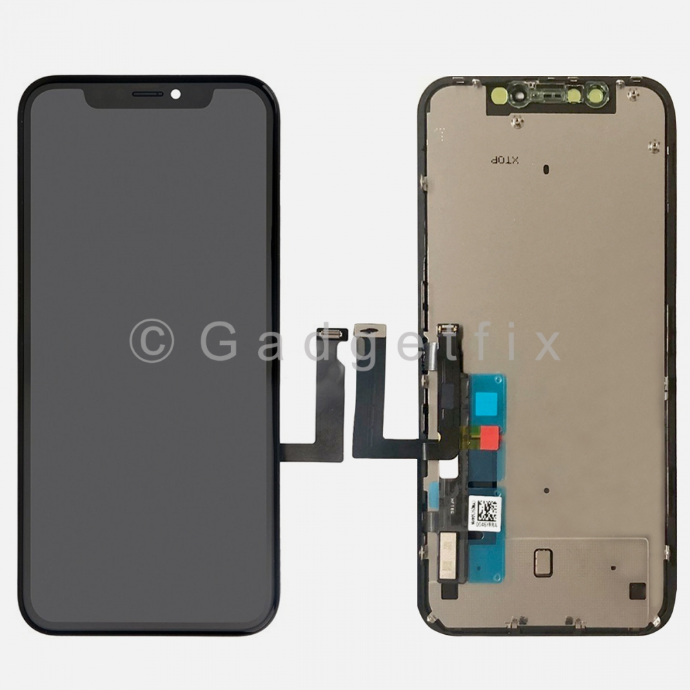 Display LCD Touch Digitizer Screen Panel + Frame + Back Plate for Iphone XR (COG)