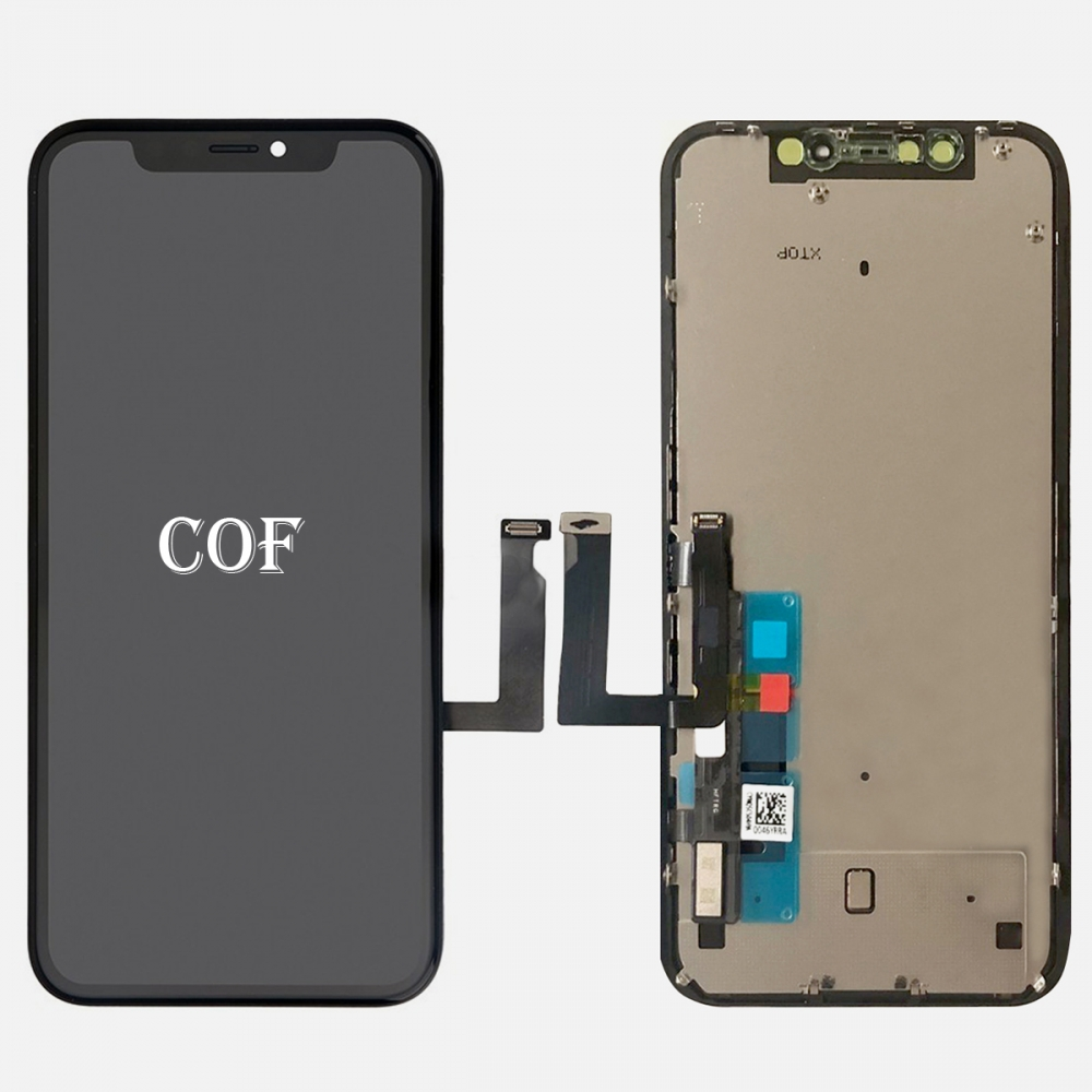 COF Display LCD Touch Digitizer Screen Frame + Back Plate for Iphone XR (ZY Factory)