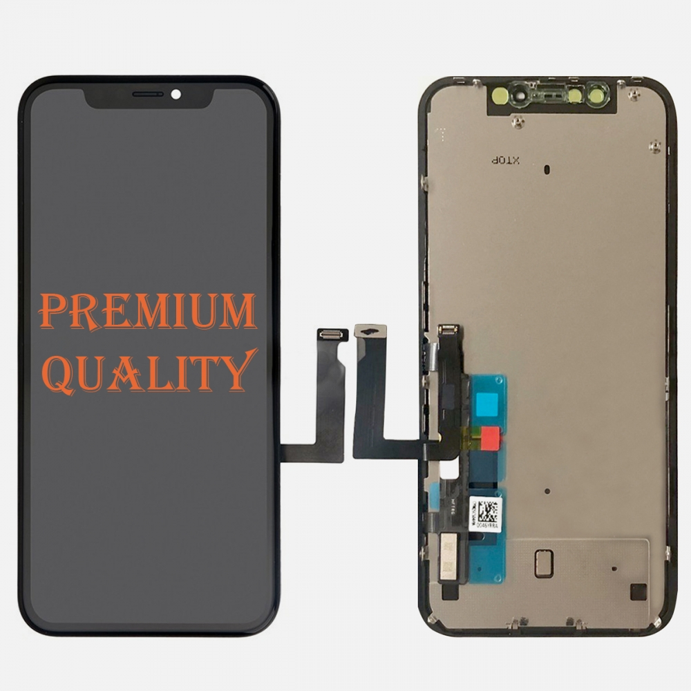Premium Display LCD Touch Digitizer Screen + Frame + Back Plate for Iphone XR (COF)